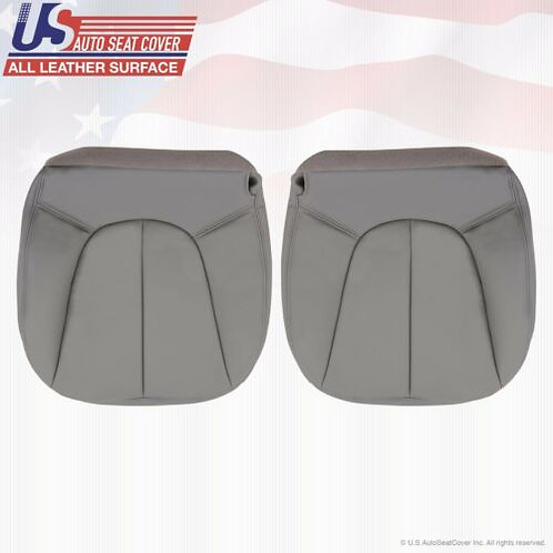 1997-2002 Ford Expedition XLT Driver Passenger Bottom Leather Seat Cover Gray