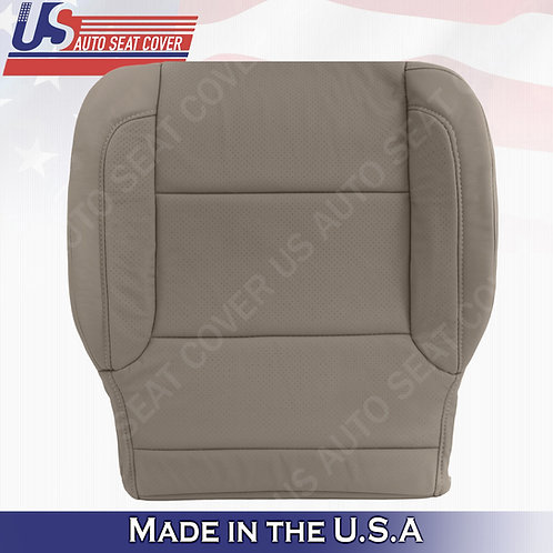 2015- 2018 Chevy Tahoe Passenger Bottom Perforated Leather Seat Cover Tan