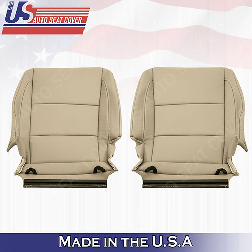 Fits 2014 - 2020 Acura MDX Driver & Passenger Bottom Leather Seat Cover tan