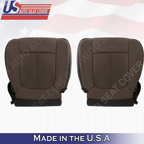 2013-2016 Ford F450 F550 Platinum Bottoms Perforated Leather Seat Cover Brown