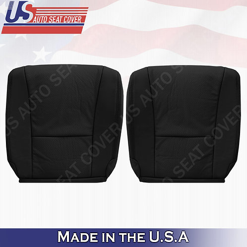 Fits 2007-2012 Lexus LS460 Front Bottoms Perforated Leather Seat Cover Black