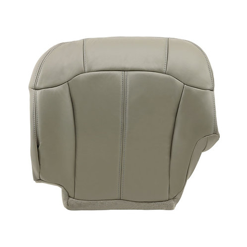 1999 2001 2002 Chevy Silverado Driver Bottom Leather Seat Cover Pewter
