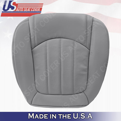 2008 -2012 Buick Enclave 1XL Driver Bottom Perforated Leather Seat Cover Gray