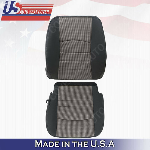 2009-2012 Dodge Ram Driver Top/Bottom Cloth Cover 2Tone Dk Gray