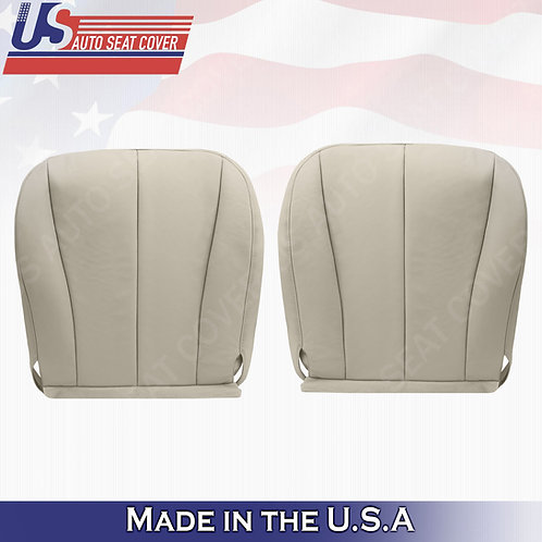 For 2007-2011 Toyota Camry Driver Passenger Bottom Synth. Leather Seat Cover Tan
