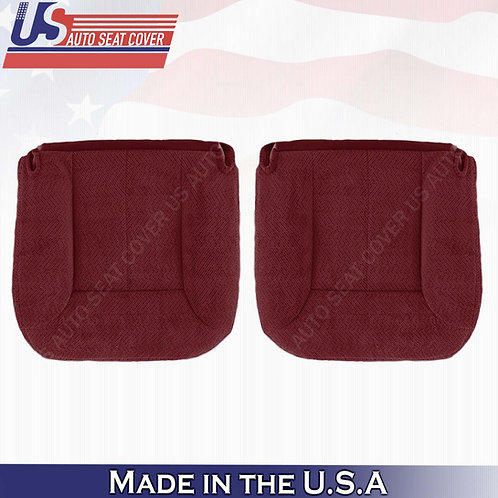 1995 -1999 GMC Yukon Driver Passenger Bottom Cloth Seat Cover Ruby Red