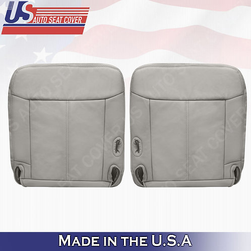 2003 - 2011 Lincoln Town Car Driver Passenger Bottom Leather seat cover Gray