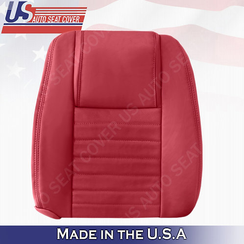 2005-2009 Ford Mustang Passenger Lean Back Cover in Red (PERFORATED)