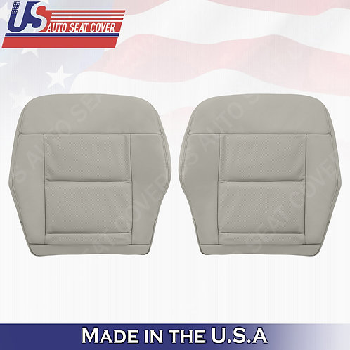 For 2010-2014 Mercedes Benz E350 Front Bottom Perforated leather seat cover Gray