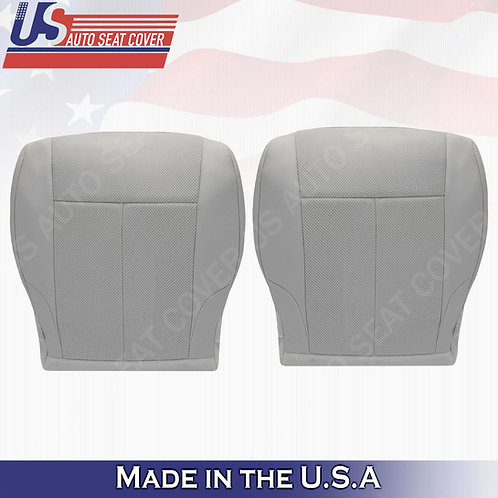 For 2007-2012 Nissan Altima Driver & Passenger bottom cloth seat cover Gray