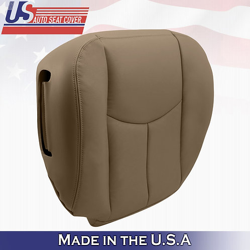 2003-2006 Chevy Silverado 1500 HD Front Bottom Leather Seat Cover neutral tan