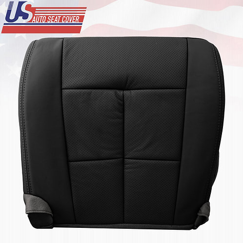 2007-2014 Lincoln Navigator Driver Bottom Perforated Leather Seat Cover Black