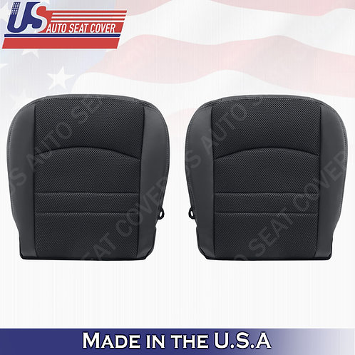 2013-2018 Dodge Ram 1500 Sport-Bottoms Cloth/Leather Seat Cover Black