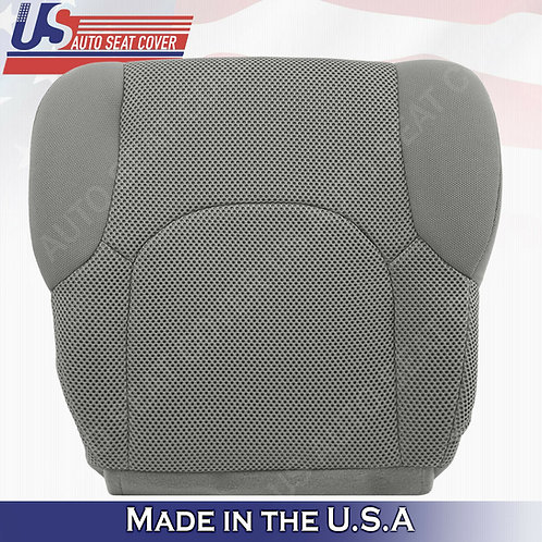 2005-2019 Passenger Bottom Gray Cloth Seat Covers FIT: Nissan Frontier S, SV, XE