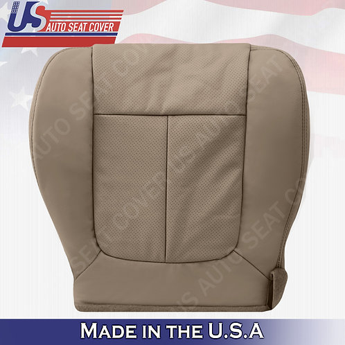 2009 2010 Ford F150 Lariat Driver Bottom PERFORATED Leather Seat Cover Tan