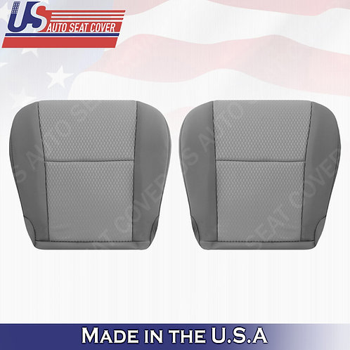 Driver & Passenger Cloth seat cover 2-tone gray for 2011-2015 Toyota Tacoma