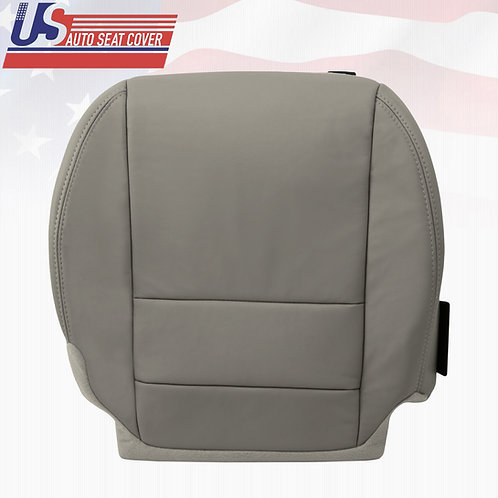 For 2007 - 2012 Acura MDX Passenger Bottom Replacement Leather Seat Cover GRAY