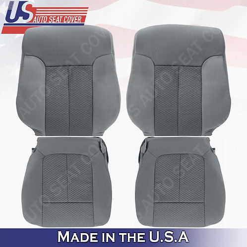 For 2011-2014 Ford F150 Driver Passenger Top Bottom Cloth Seat Cover Stee