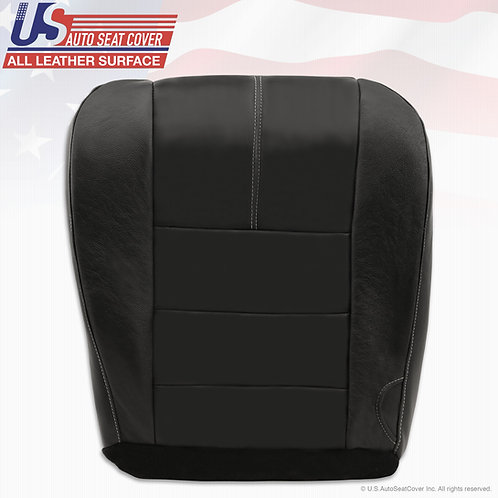 2008-2010 Ford F250 Lariat Passenger Bottom Replacement Leather Cover BLACK