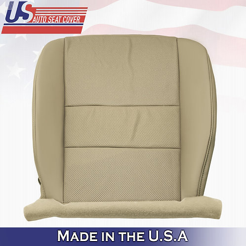 For 2009-2014 Acura TSX Driver Bottom Perforated Leather Seat Cover Tan