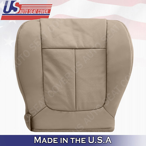 2011-2014 Ford F150 Lariat Passenger Bottom leather Perforated cover Adobe Tan