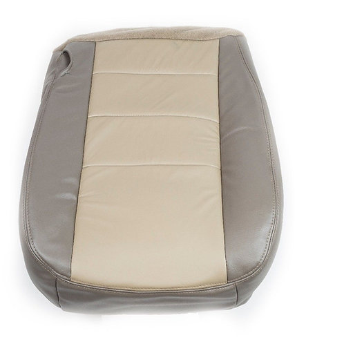 2002 2003 2004 Ford Excursion Passenger Bottom Leather Seat Cover 2 tone Tan