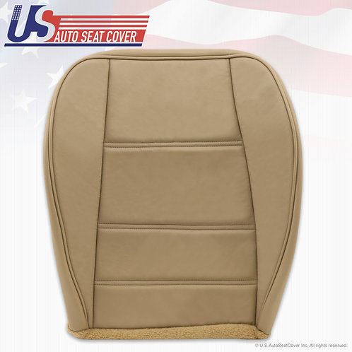 1999-to-2004 Ford Mustang V6 Front Driver Side Bottom Leather Seat Cover Tan