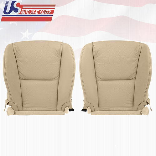 Fits 2006 Lexus GS300 DRIVER PASSENGER Bottom PERFORATED LEATHER Seat Cover TAN