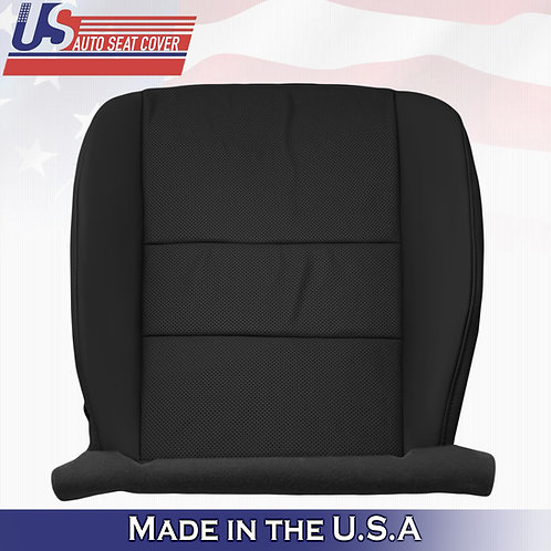 For 2009-2014 Acura TSX Passenger Bottom Perforated Leather Seat Cover Black