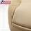 Thumbnail: 2009 2010 Ford Explorer Driver Side Bottom Leather Seat Cover Two-Tone Tan