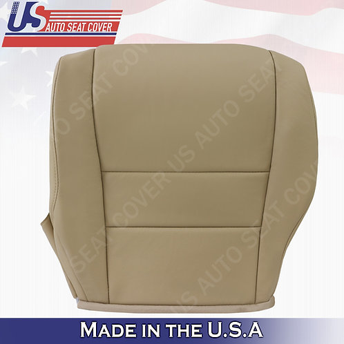 Fits 2007 to 2011 Honda CR-V Driver Bottom Leather Seat Cover Tan