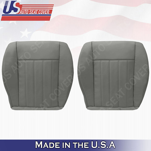 2005 2006 2007 Jeep Liberty Driver & Passenger Bottom Leather Seat Cover Gray