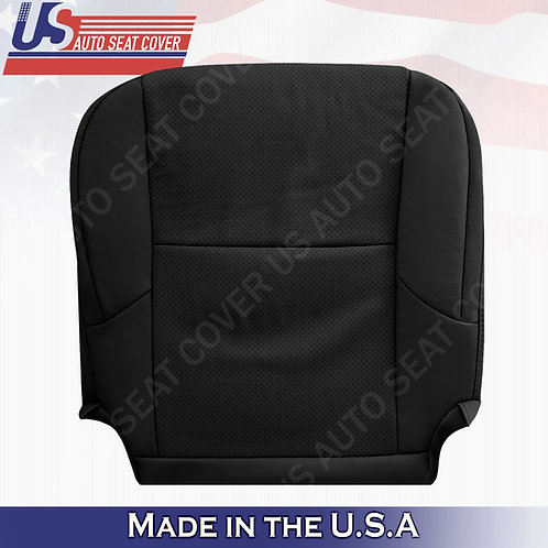 Fits 2010 - 2017 Lexus GX460 PASSENGER Perforated Leather Seat Cover Black