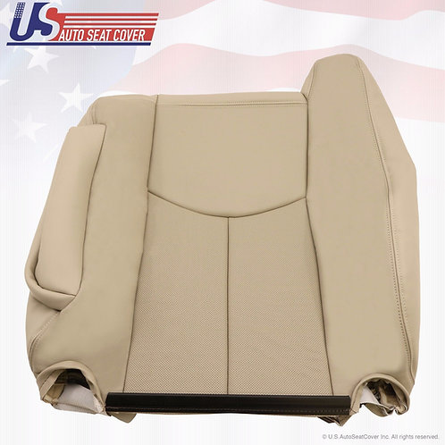 2003 2004 2005 2006 Cadillac Escalade Driver Backrest Perforated Seat Cover Tan