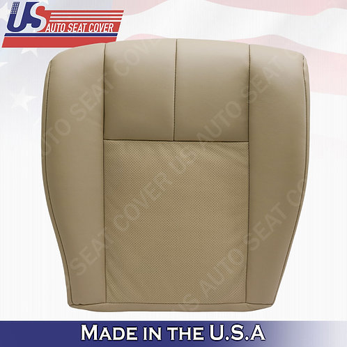 2005-2011 Cadillac STS Driver Bottom Perforated Seat Cover Tan