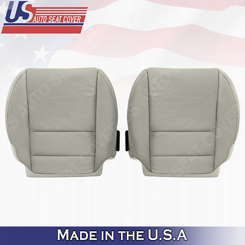 2007-2012 Acura MDX Driver & Passenger Bottom Perforated Leather Seat Cover GRAY