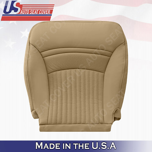 1997-2004 Chevorlet Corvette Driver Bottom Perforated Leather Seat Cover Tan