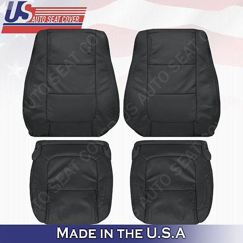 2011 - 2015 Ford Explorer FRONT SET leather Perf.  Seat Cover Black
