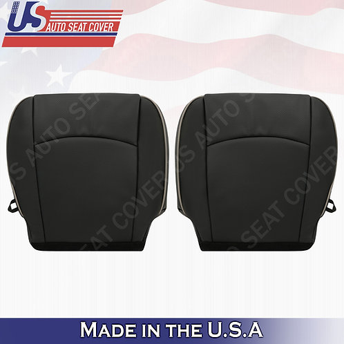 2009-2012 Dodge Ram Laramie Limited Front Bottom Perforated Leather Cover BLACK