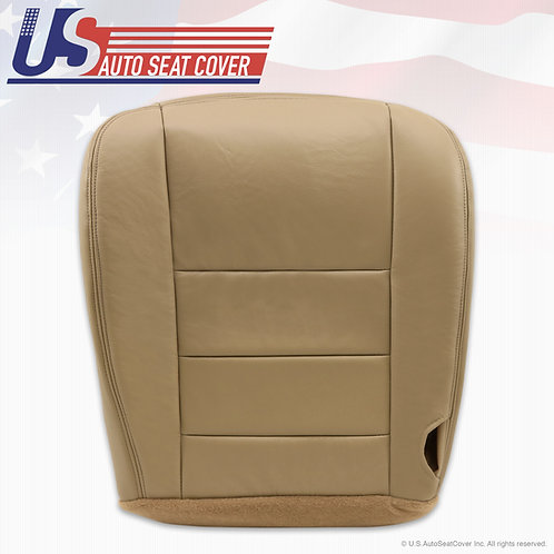 2002-2005 Ford Excursion Limited Passenger Bottom Leather Seat Cover Tan