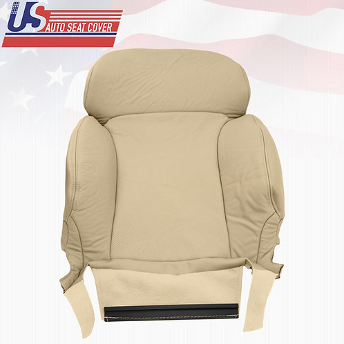 2006-2011 Lexus GS350, 350AWD, Driver Upper Perforated Leather Seat Cover Tan