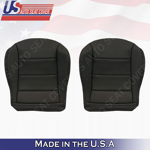 1999 to 2004 Volkswagen Jetta Driver Passenger Bottom Leather seat cover Black