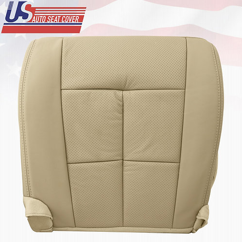 2007-2014 Lincoln Navigator Driver Bottom Perforated Leather OEM Seat Cover Tan