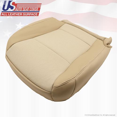 2009 2010 Ford Explorer Passenger Side Bottom Leather Seat Cover 2-Tone Tan