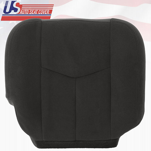 2006 2007 GMC Sierra 3500 Passenger Bottom Replacement Cloth Seat Cover DK GRAY