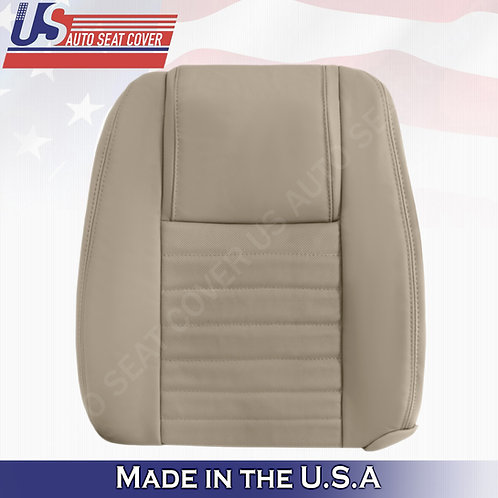 2005-2009 Ford Mustang Driver Lean Back Leather Seat Cover in Tan (Perforated)