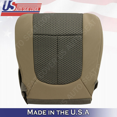 2011-2016 Ford F250 Passenger Bottom Cloth Seat Cover 2-tone tan