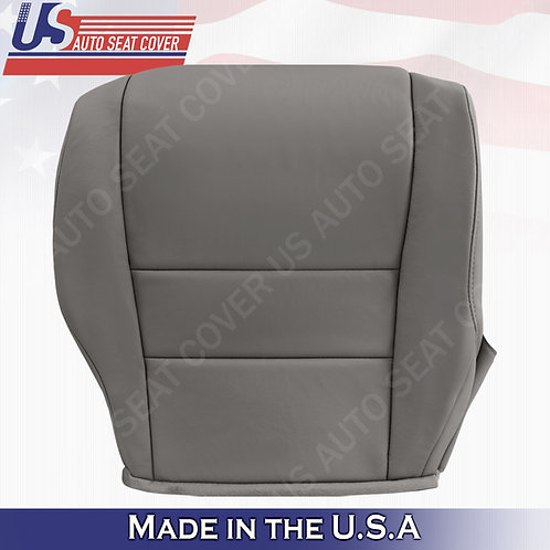 For 2007-2011 Honda CR-V Passenger Bottom Leather seat cover Gray