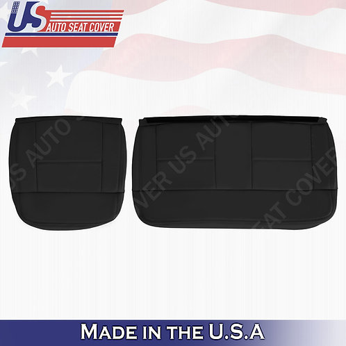 2004-2007 Ford F150 Lariat REAR Driver Passenger Bottom Leather Blck Covers