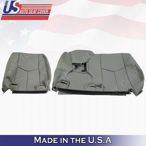 2003-2006 Chevy Tahoe Suburban REAR 60/40' Top Leather Seat Cover Gray